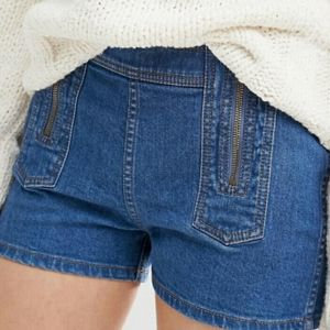Free People Be Mine double zip shorts size 29